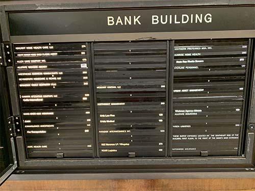 backlit directory